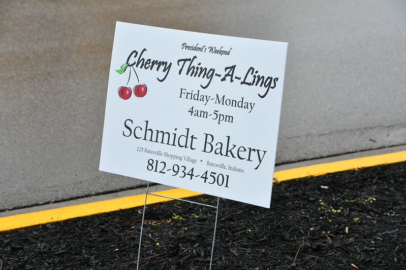 Signs like this were all around Batesville to advertise the availability of this year's Cherry Thing-A-Lings.