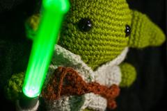 Yoda from Star Wars Amigurumi Frame Art
