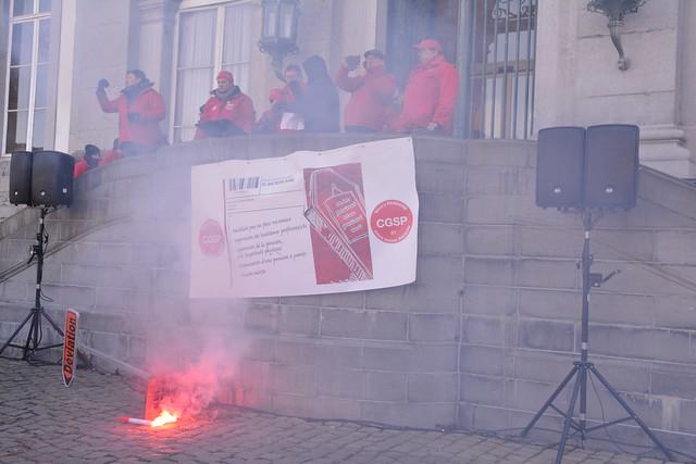 Manifestation contre la réforme des pensions tournai le 27 février 2018
