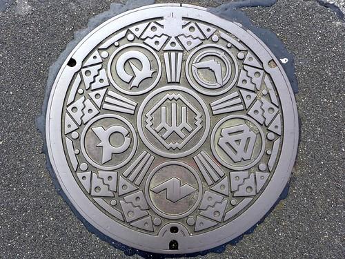 Yamanashi pref, manhole cover 2 (山梨県のマンホール2)