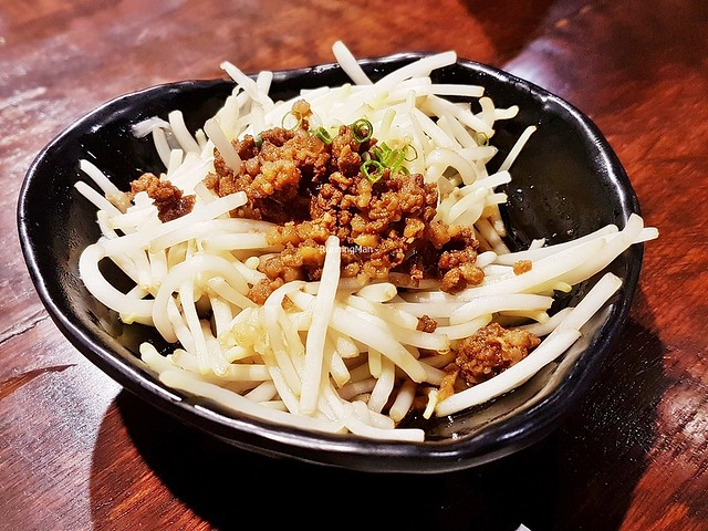 Soboro Ankake Moyashi / Bean Sprouts With Minced Beef & Fish Meat