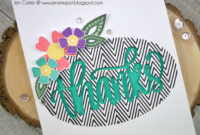 Jen Carter Chevron Cheers Thanks Love Grows Closeup