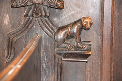bench end: bear (15th Century)