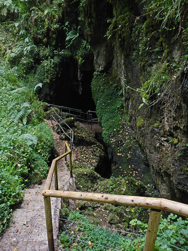 Stairs down to the Marble Arch Caves near Enniskellen in Ireland, UK