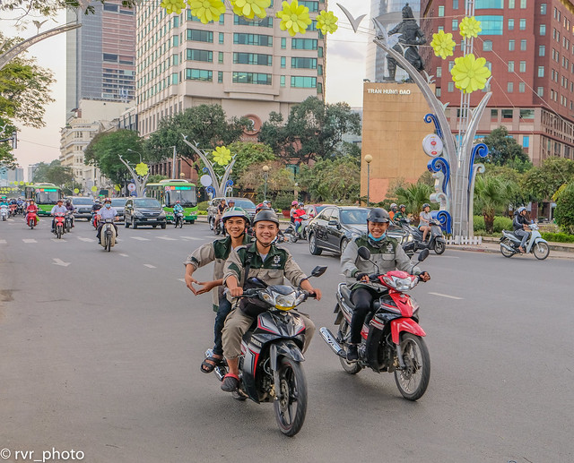 Calles de Saigón, Vietnam