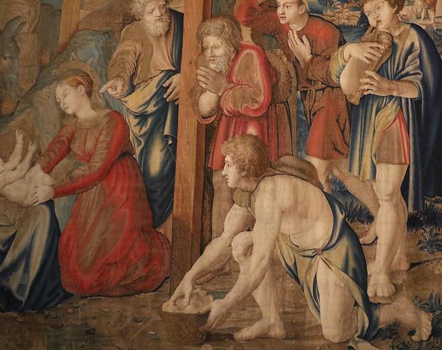 Pieter van Aelst, Arazzo con l'Adorazione dei pastori (XVI secolo) - Musei Vaticani