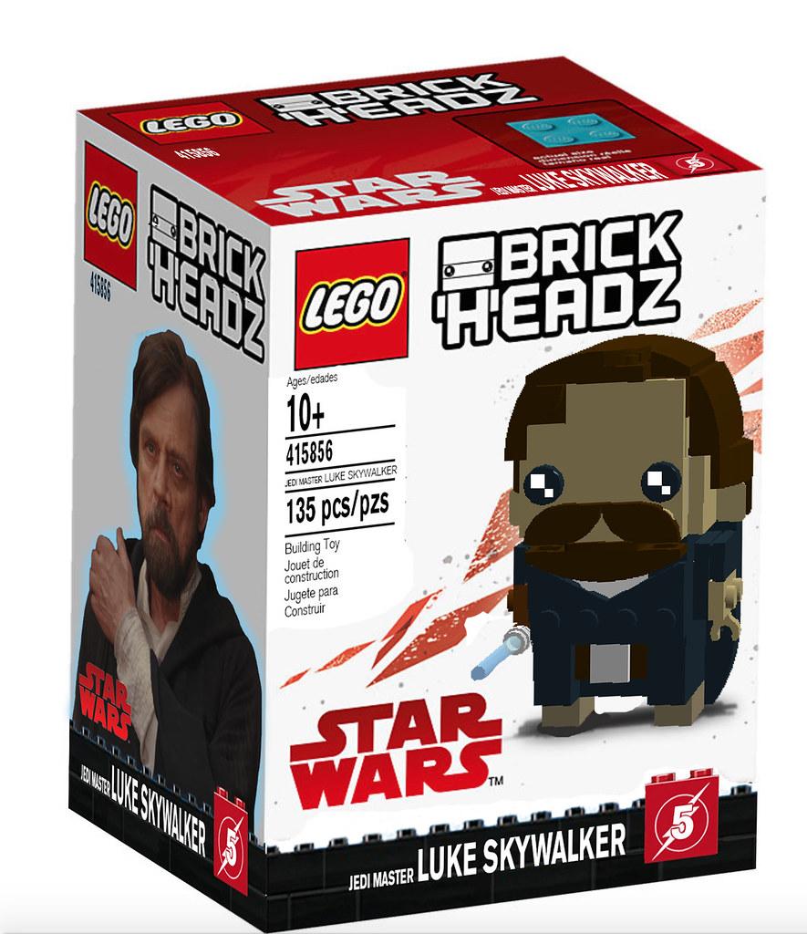 Jedi Master Luke Skywalker Brickheadz