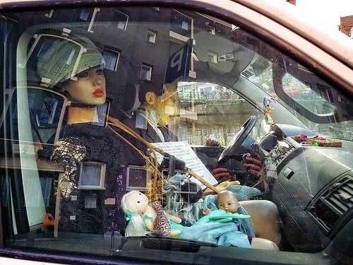 Amsterdam, strange couple in car.
