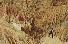 Nepal, Mustang-Trekking. Canyon-Landschaft bei Konchokling. Foto: Bruno Baumann.