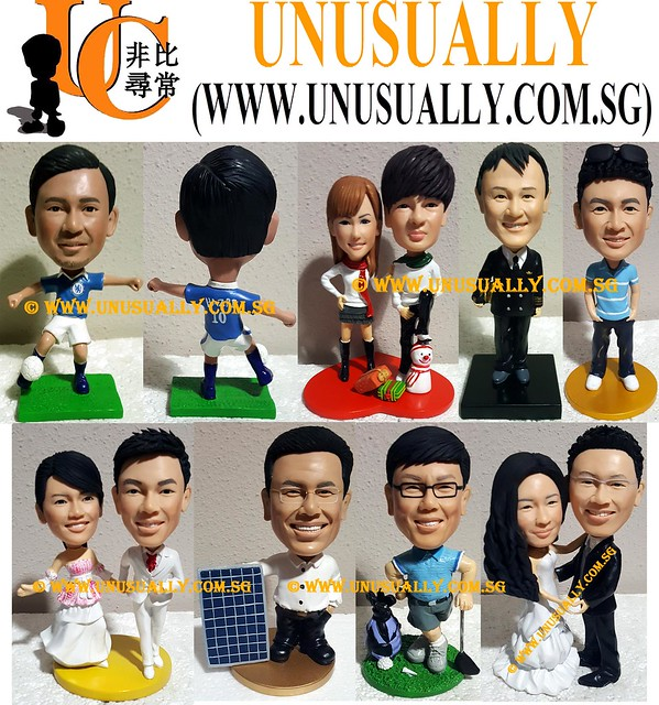 Custom 3D Fixed & Bobblehead Unusually Figurines - © www.unusually.com.sg
