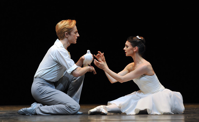 Steven McRae and Soloist Elizabeth Harrod in The Two Pigeons. Photo by Robbie Jack - Corbis/Getty Images for Hull UK City of Culture 2017 and The Royal Ballet