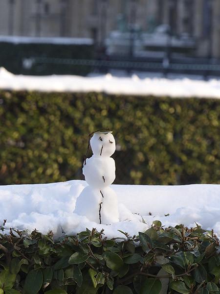 le bonhomme de neige des Tuileries