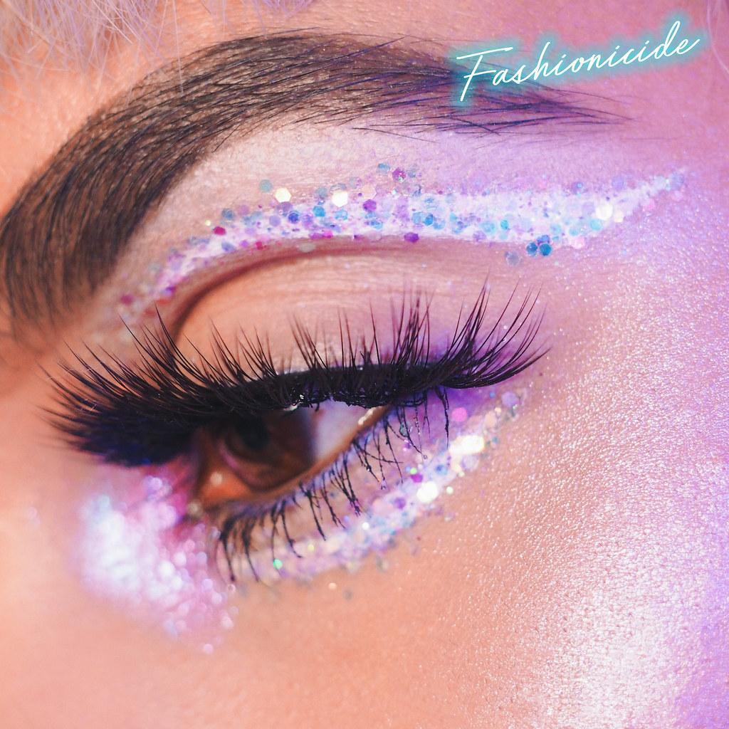 Primark Penneys SOSU Lashes New York Milan Huda Beauty Dupe Makeup Glitter Look