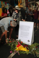 Laying of flowers Queen Victoria marketsat Commemoration of Tunnerminnerwait and Maulboyheener - IMG_2824
