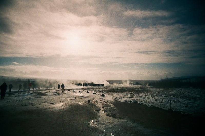 Geysir field