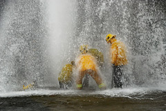 LAFD Crew Handles Sheared Hydrant in Van Nuys