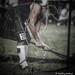 Hammer Thrower behind the net