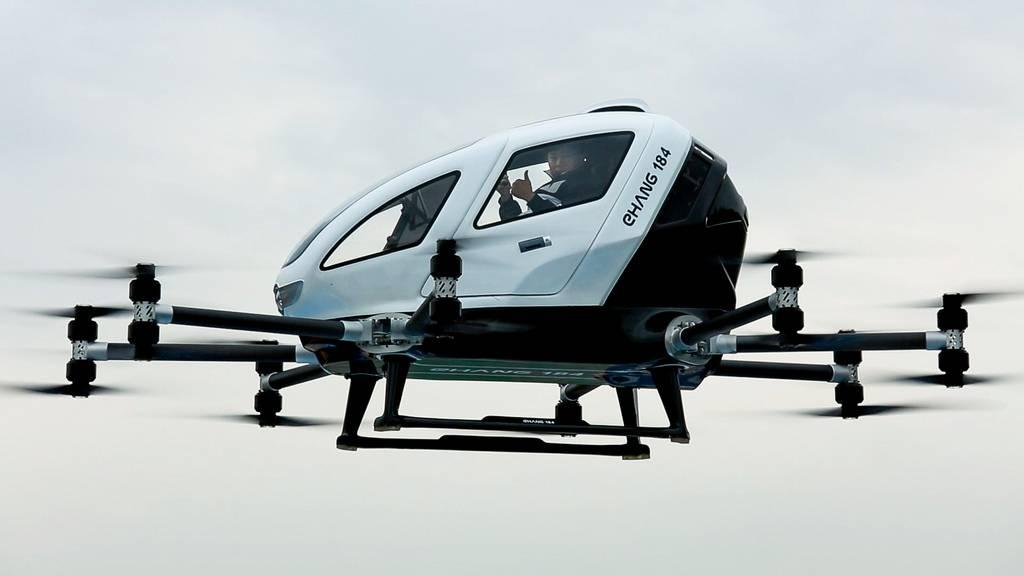 EHANG montre des images de son drone en vol