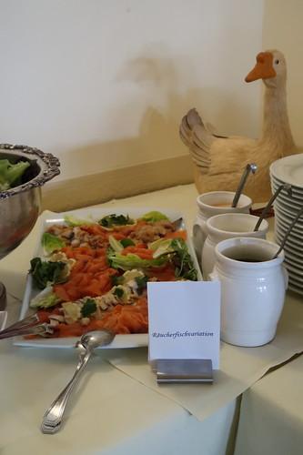 Räucherfischvariationen (auf dem Vorspeisenbuffet im Victoria-Hotel Minden)