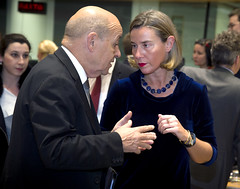 Mogherini participates to the Foreign Affairs Council, January 2018