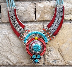 Nepal-Tibetan-Bib-Necklace-Turquoise-Nepalese-Ethnic-Coral-Amber-Jewelry-Boho