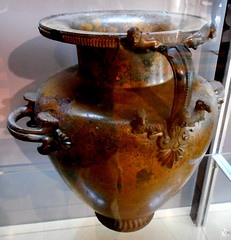 "Bronze hydria (water vase) about 520 BC from the ""Heroon"" [cult that may be attributable to the founder of Paseidonia / Paestum] - Archaeological Museum of Paestum"
