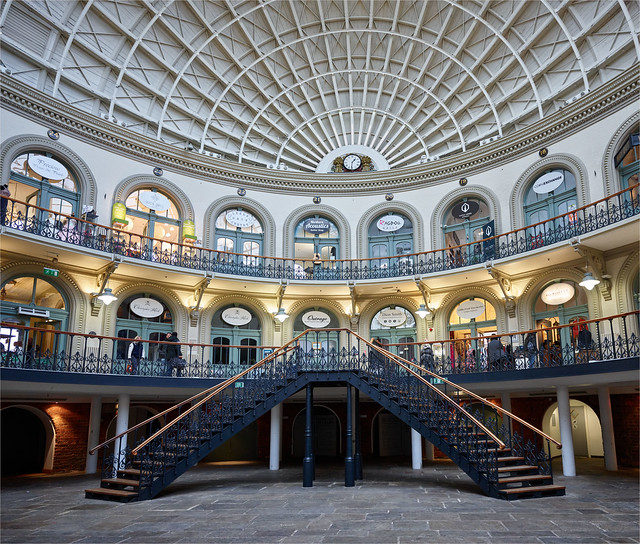 The Lower Regal steps of The Iconic Buildings in The Yorkshire The Corn Exchange Leeds