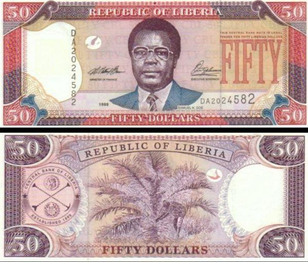 50 Dolárov Libéria 1999, P24a