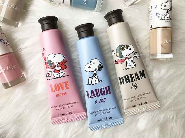 innisfree-snoopy-Jeju-Life-Perfumed-Hand-Cream-Set
