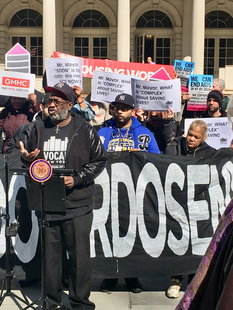 2/27/18 Supervised Consumption Sites Rally at NYC City Hal