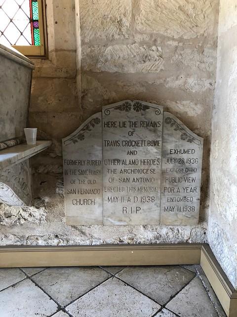 San Antonio - San Fernando Cathedral tombstone