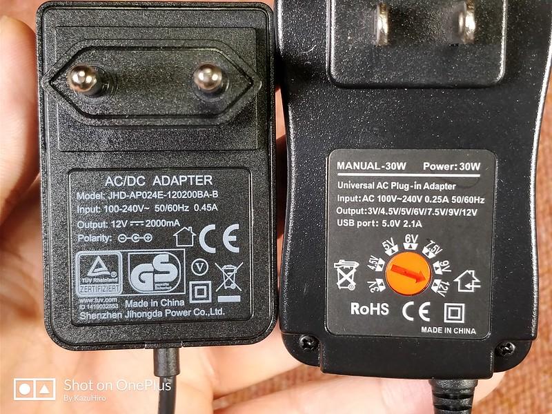 電圧調整可能なACアダプター (22)