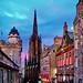 Edinburgh twilight at Royal Mile