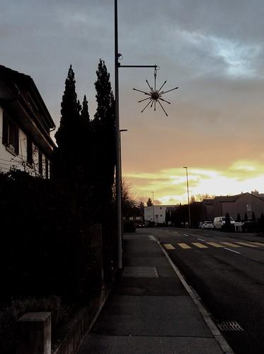 Wohlen AG, Switzerland - Sunrise View from Waltenschwilerstrasse