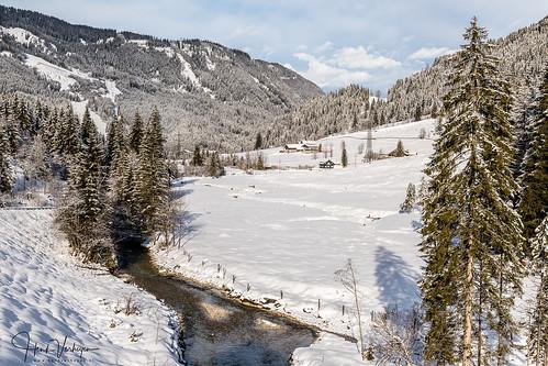 a austria flachau oostenrijk wintersport cold landscape landschap sneeuw snow white gemeindeflachau salzburg at flachauwinkl tree boom water river rivier beek