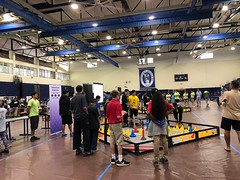 Hawaiian Electric at the Hawaiian Electric Companies Hawaii State VEX Robotics Championships - January 13-14, 2018: Participants demonstrate using the robot
