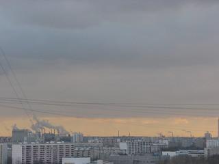 View from the window, Veshnyakovskaya street 2008 Feb 14 / Вид из окна, Вешняковская улица