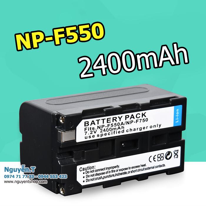 Pin NP-F550/F570 dung lượng 2400mAh cho LED Yongnuo YN300 YN600 YN900