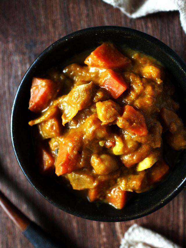 【食譜】純素鷹嘴豆南瓜咖哩 (一鍋到底) 1-Pot Vegan Chickpea Pumpkin Curry