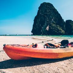 Beautiful tropical beach, Ao Phranang Krabi Thailand