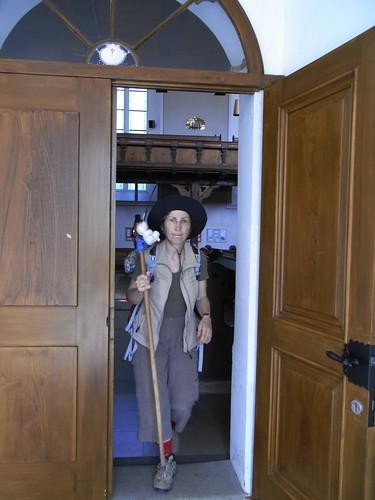 20100825 123 0105 Jakobus Königsbrück Kirche Tür Muschel ElisabethB Pilger