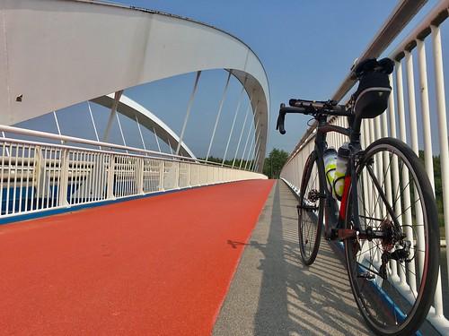 Cycling with my racing bike