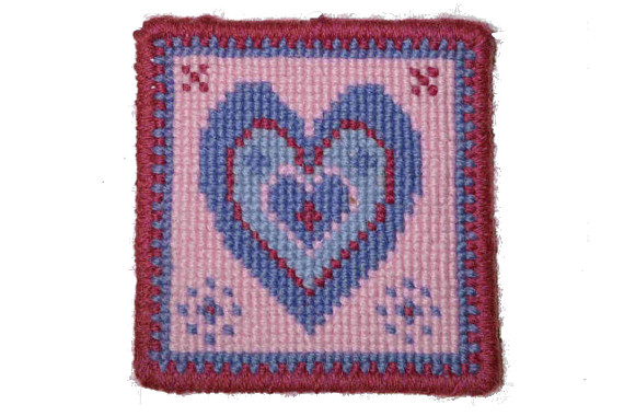Blue Heart Cross stitch Tapestry Kit