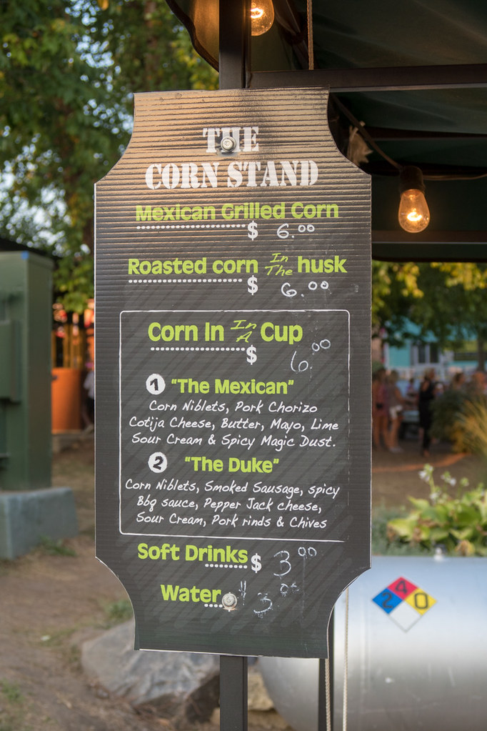 Menu board for the Corn Stand at the Iowa State Fair