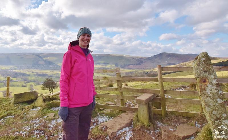 Best gift ideas - Wearing waterproof jacket in Castleton in The Peak District