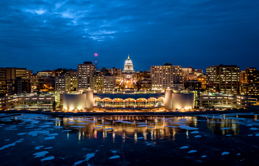 Madison Wi 53718 Mail: Madison, Wisconsin From A Frozen Lake Monona