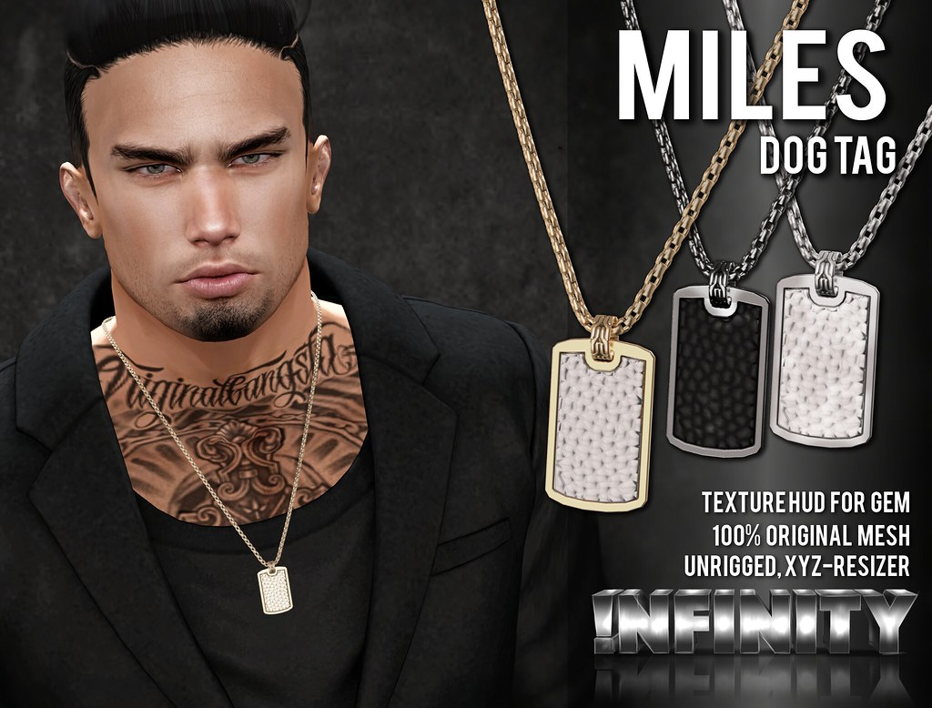 !NFINITY Miles Dog Tag Necklace @ Men Only Monthly - TeleportHub.com Live!