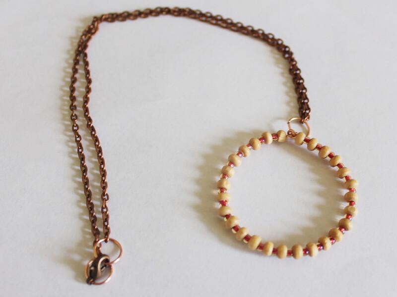 finished circle necklace