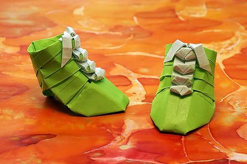 Origami Lace Boots (Yoshio Tsuda)