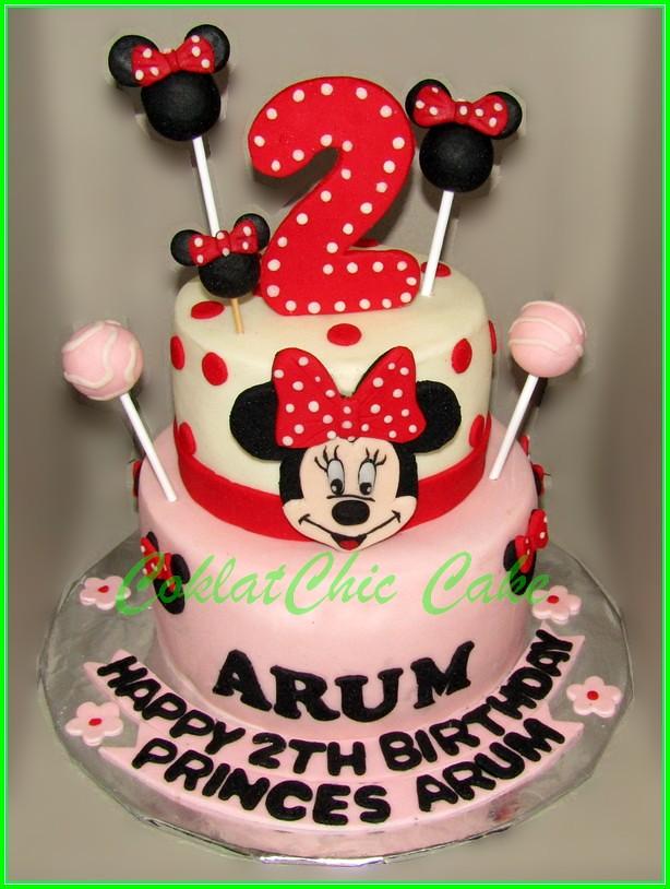 Cake Minnie Mouse ARUM 15 cm & 12 cm